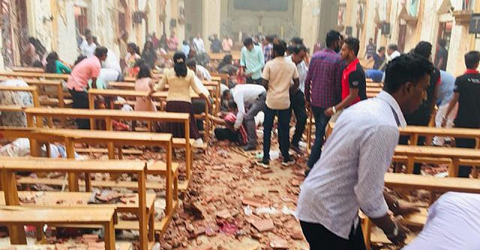 ഈസ്റ്റർ ദിനത്തിൽ ശ്രീലങ്കയിൽ ഭീകരാക്രമണം: 156 പേർ കൊല്ലപ്പെട്ടു; മരണസംഖ്യ ഉയരും