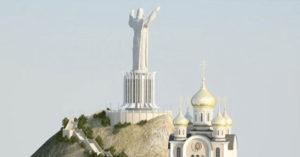 ലെനിന്റെ പ്രതിമയുടെ സ്ഥാനത്ത് ക്രിസ്തു ശില്പം ഉയരുമ്പോള്