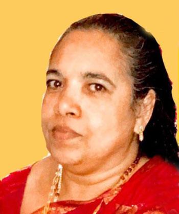 ആൻസി വിൻസെന്റ് (60), നെല്ലിക്കുന്നേൽ, വെസ്റ്റ് ഹാർട്ട്ഫോർഡ്