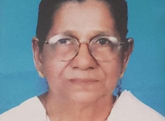 സാറാമ്മ (ചെല്ലമ്മ 93), വെണ്ണാലിൽ, തിരുവല്ല