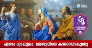 പാലകന്റെ പാഥേയം 10- ഏഴാം വ്യാകുലം:യേശുവിനെ കാണാതാകുന്നു
